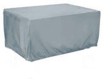 HBCOLLECTION Custodia per tavolo da giardino rettangolare 6PL. 173cm Premium poliestere grigio