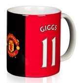 Original Manchester United FC Mug Cup Tasse Kaffee Kaffeebecher Becher Tazza Ryan Giggs -