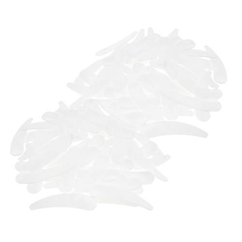 Fenteer Set 100x Spatule Cosmétique Cuillère Masque Scoop en plastique