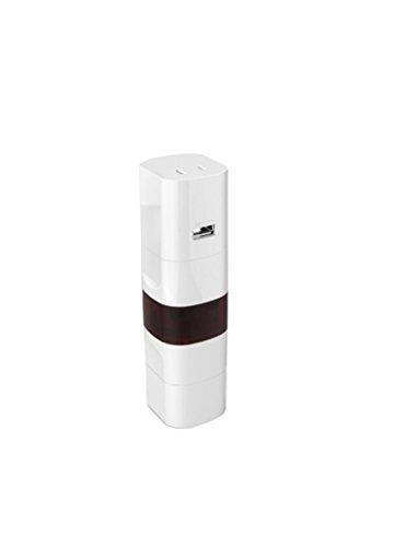 FZHLY Multi-Country-Reisen-Konverter Convert-Stecker Europäische Norm Britische Norm Amerikanische Norm Deutsche Norm Mit USB-Modellen Weiß Größe: 151 * 45 * 45mm