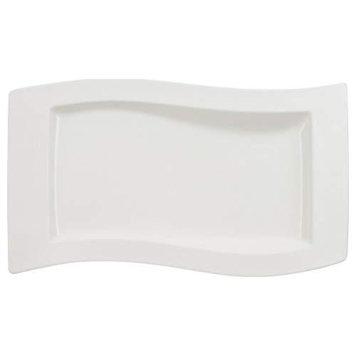 Villeroy & Boch NewWave Servierplatte, Premium Porzellan, Weiß