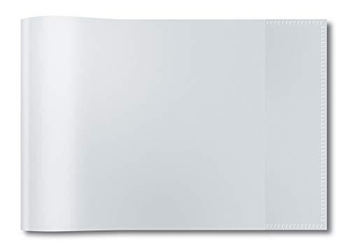 HERMA 7470 Heftumschlag DIN A5 quer, transparent, durchsichtig, aus strapazierfähiger und abwischbarer Polypropylen-Folie, 1 Heftschoner für Schulhefte, durchsichtig -
