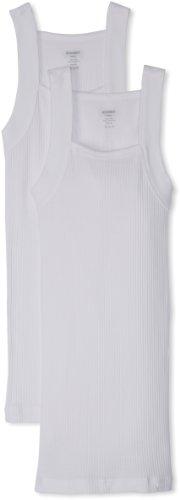 2(x)ist Herren Unterhemd schwarz schwarz Gr. L (US Größe), weiß (Tank Cut Square Cotton Top)