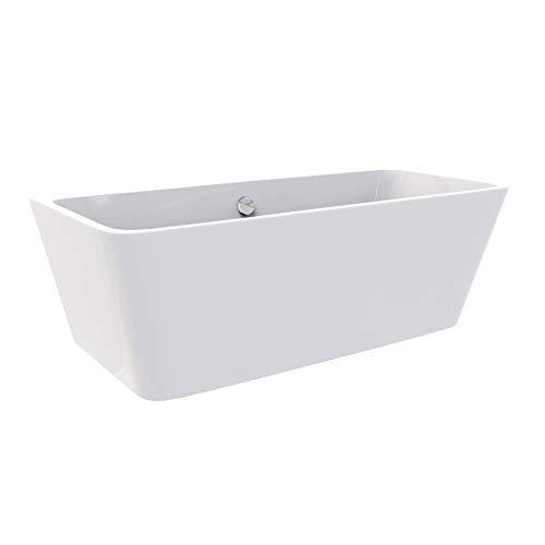 Freistehende Design Badewanne MALMÖ 170 x 75 cm - aus Acryl in Weiß - verschiedene Größen (170 x 75 cm)