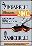 Image de Lo Zingarelli 2002. Vocabolario della lingua itali
