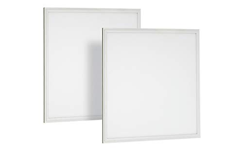 2 Pack NEOX LED Panel 2x2 Edge-Lit Flat Troffer 27W 5000K 3000lm Dimmable  UL & DLC listed