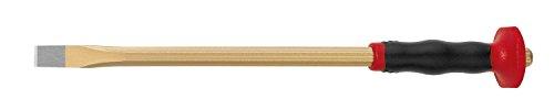Rennsteig Elektrikermeißel 3613030, 10mm x 300mm, flach, mit achteckigem Schaft mit Händeschutz