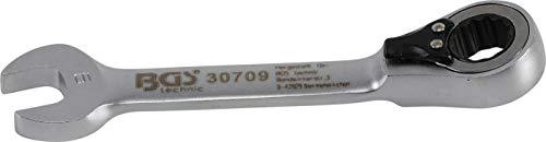 Bgs Clé mixte à cliquet, courte, 9 mm, 1 pièce, 30709