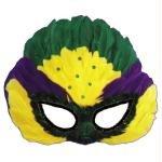 uin Feather Halloween Kostueme Maske Gesicht Maske Over-the-Head-Maske Kostuem Stuetze Scary Creepy Schreckliche Maske Latex Maske fuer Maskerade Make-up Party (Mardi Gras, Maske, Make-up)