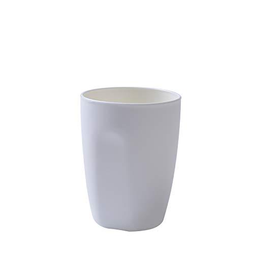 Einfache mund tasse runde kunststoff zahnbürste tasse paar bürstbecher badezimmer haushalt topf tasse weiß -