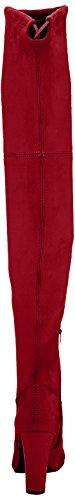 Buffalo Damen 2861 Micro Strech Stiefel Rot (Rojo)