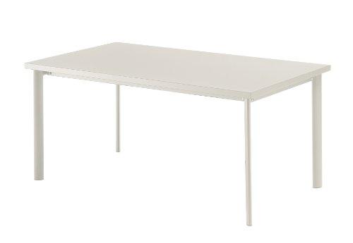 Emu 303072300 Star Tisch 307, 90 x 160 cm, pulverbeschichteter Stahl, weiss