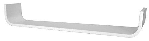 Tenzo 676-001 flower, mensola da parete di design, 12 x 80 x 16/24 cm, premontato, legno laccato bianco (weiß)