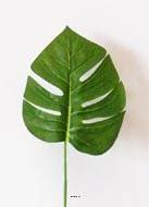Künstliche–Blatt Philodendron H 45cm Stoff beschichtet für Außen D 15cm