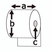 Thermopapier, weiss, 105mm x 205m ohne Kleber, für TM-T88 etc., Außendurchmesser ca.205m, Kern 25mm, 7 Jahre Lesbarkeit bei korrekter Lagerung