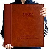 ZOVIEW magnetisch Selbstklebend Seite Foto Album, Familie Album, Leder, Hand Made DIY Alben für 3x 5, 4x 6, 5x 7, 6x 8,8x 10Fotos, (Rot Braun) Rotbraun (5x7 Leder-album)