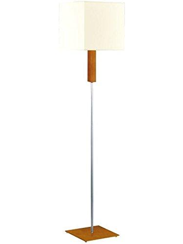 Bauhaus Stehlampe (Creme, Höhe 150cm, E27, Rechteckiger Schirm) Innenlampe Holzleuchte Stehleuchte...