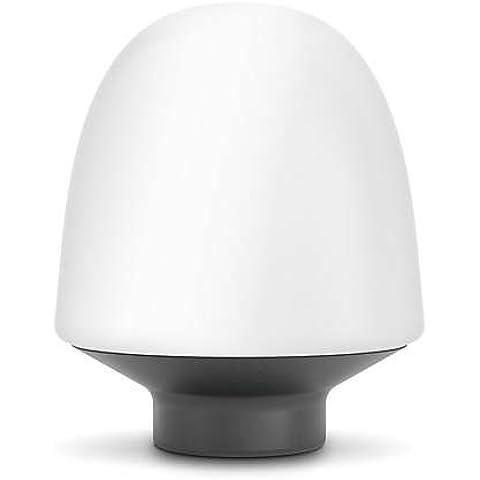 Philips myLiving Tarbert - Lámpara de mesa, forma de cúpula, LED, 50/60 Hz, luz blanca cálida, corriente alterna, vidrio, color blanco