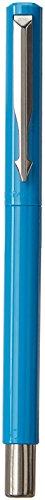 Parker-Vector-9000023209-Standard-Fountain-Pen-Chrome-Trim-Fine-Nib-Chrome-Blue-with-3-Free-Ink-Cart