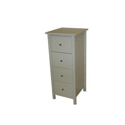 Oestergaard White MDF Chest with 4-Drawers, 47 x 110 x 48 cm