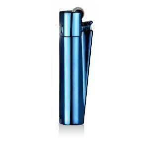 Clipper® Encendedor - Edición Metal Flint - Azul con caja metálica