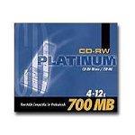 Platinum CD-RW Rohling wiederbeschreibbar 4x-12x 700 MB/80min (1 Stck.) im Jewel Case