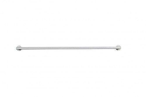 Halterstange Eisen zur Wandmontage DM 13 cm silber max. Belastbarkeit 1kg