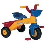 Injusa - Triciclo Trico Max para niños de 1 a 3 años, con cesta delantera y trasera, amarillo y...