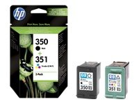 HP Druckerpatrone 350/351 Schwarz und Farbe (Cyan, Magenta, Gelb) (C4240 Hp Drucker)