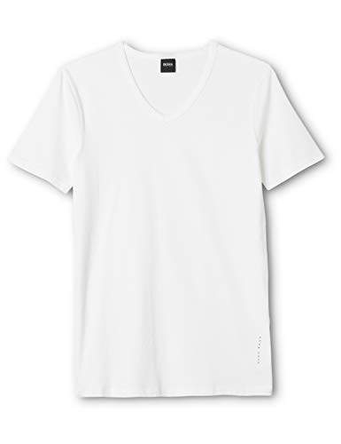 BOSS Herren VN 2P CO/EL T-Shirts, Weiß (White 100), Large (2erPack) -