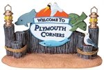Lemax Welcome To Plymouth Sign