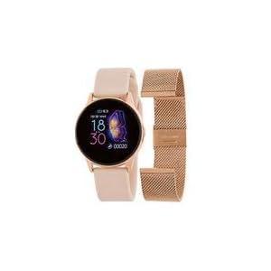 Marea Smart B58001/4 Brazalete Intercambiable Acero Oro Rosa y Silicona Rosa 1