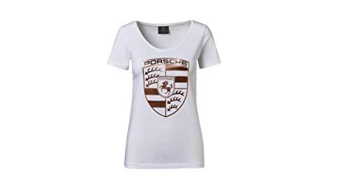 Porsche Damen T-Shirt Wappen weiß, Gr. L - WAP82200L0K -