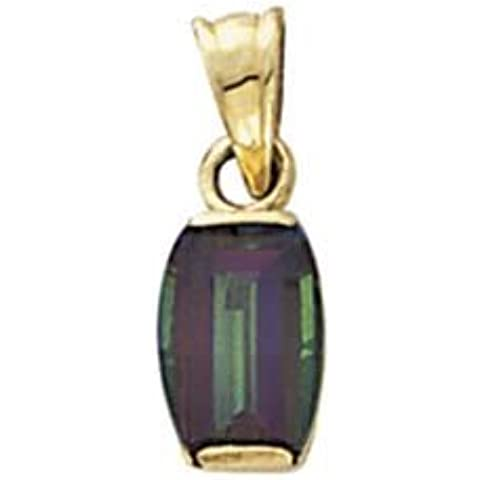 Oro 14Mystic Topaz pendente