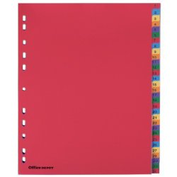 polypropylene-intercalaires-perfores-a4-extra-large-1-31-numerique-multi-couleur