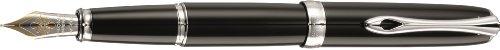 DIPLOMAT Excellence A plus, lacca nero, penna stilografica, pennino 14ct d'oro B largo
