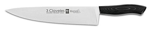 3 Claveles Rioja - Cuchillo para cocinero, 25 cm, 10 pulgadas