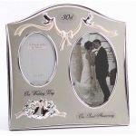 Anniversary - Happy Anniversary 30. Perle Hochzeitstag Dual-Photo Fra ...