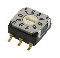 NIDEC COPAL ELECTRONICS Rotary Code SW, 10POS, BCD COMP, 0.1A/5V SH-7030TB -