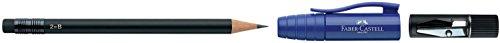 Faber-Castell 182997 – Lápiz de madera, negro, 1 unidad [tapas surtidas]