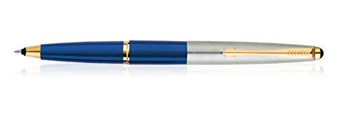 Blau Gold Trim (Parker Galaxy Stainless Steel Gold Trim Roller Ball Pen)
