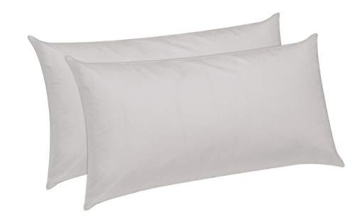 Pikolin Home - Pack de 2 almohadas de fibra, antiácaros, funda 100% algodón, firmeza media, 40x70cm...