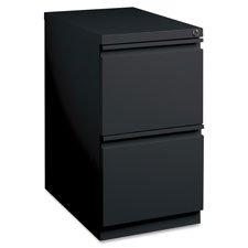 Lorell LLR49530 Mobile File Pedestal, Black