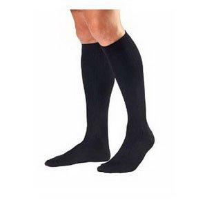 Jobst 115110 Mens 30-40 mmHg Closed Toe Knee High Support Socks - Size & Color- Black Large