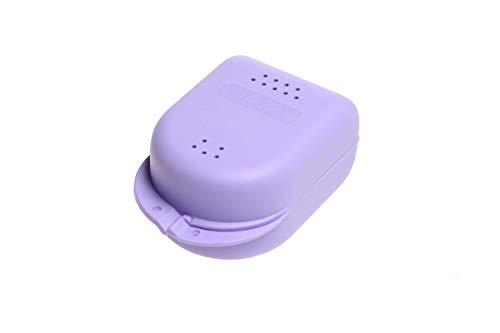 Zahnspangenbox für Kinder, Spangendose, Zahnspangen-Dose, Knirscherschienendose, Farbe:lila