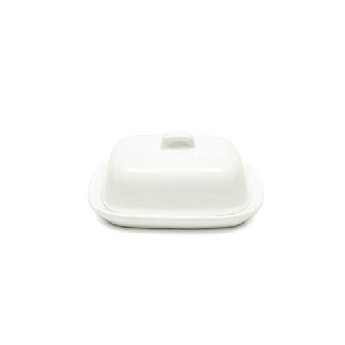 CKS Mini Beurrier avec couvercle Céramique blanche (10x8x4cm) (pack de 2)
