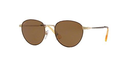 Persol Herren 0Po2445S 107557 52 Sonnenbrille, Gold/Brownpolar