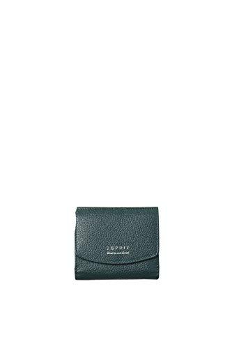 Esprit Accessoires Damen 098ea1v021 Geldbörse, Grün (Bottle Green), 1x9x10 cm