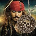 Halskette medaillon Azteca Piraten der Karibik