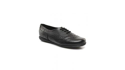 Hush Puppies Jiving Senior H33622000, Chaussures à lacets fille Noir - noir